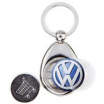 metalen sleutelhanger met munt voor winkelkar