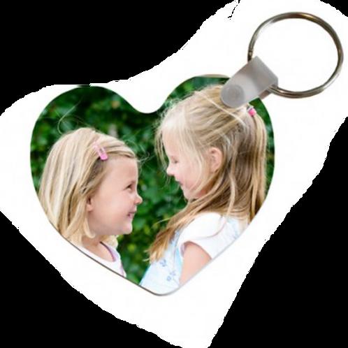 hartvormige sleutelhanger bedrukt 2 zijden