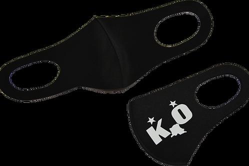 mondmasker zwart bedrukt 1 zijde