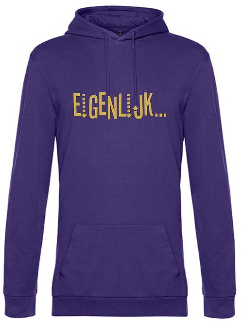 """Hooded sweater B&c ( zonder label) BCWU03W """"Eigenlijk"""""""