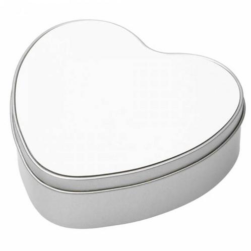 metalen koekjesdoos hartvorm