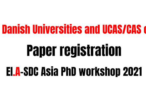(Danish university and CAS only) Registration fee for IE.A-SDC Asia PhD workshop