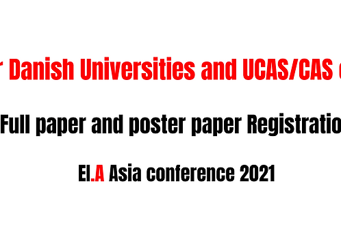 (Danish university and CAS only) Paper registration fee-EI.A Asia conference