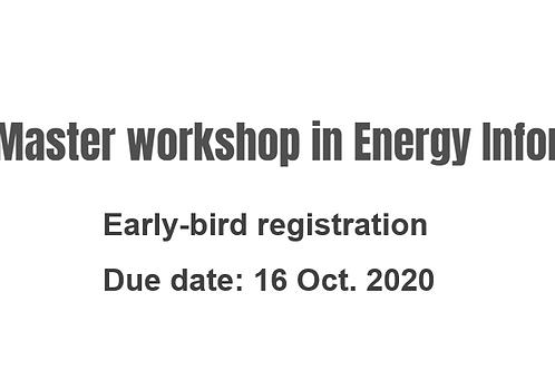 PhD & Master workshop- early bird registration