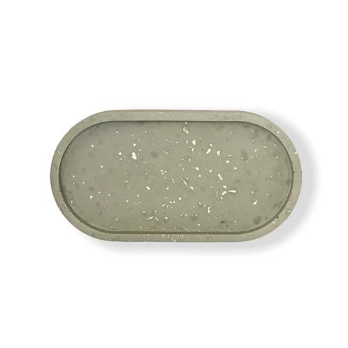 Oval Tray in Grey Terrazzo