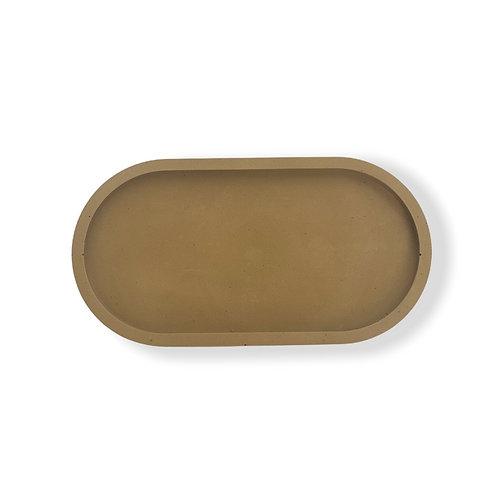 Oval Tray in Brown