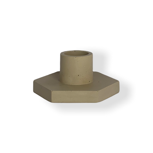 Candle holder in Tan