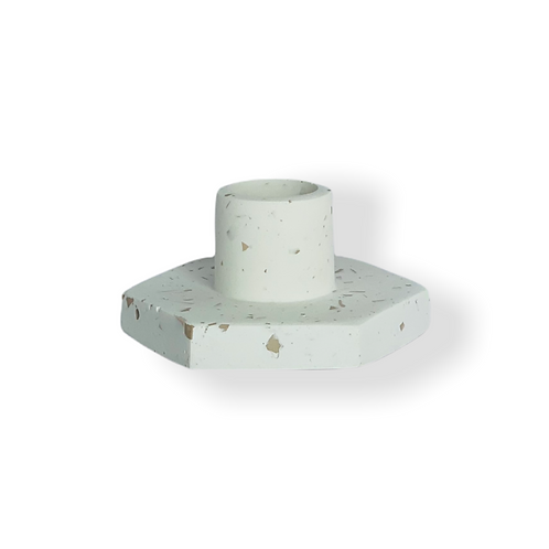 Candle Holder in Terrazzo