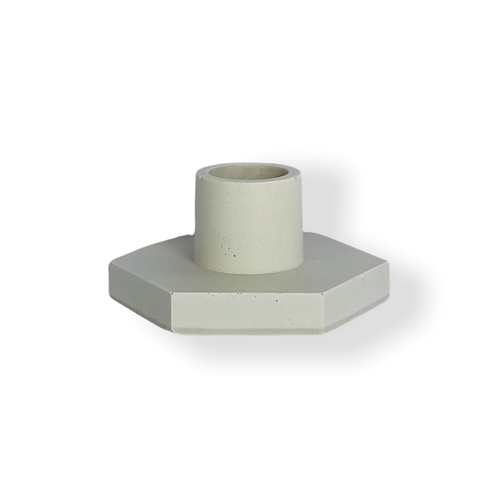 Candle Holder in Off White