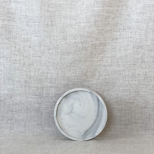 Coaster in White Marble