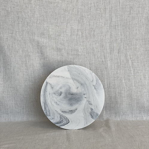 Midi Circle in White Marble