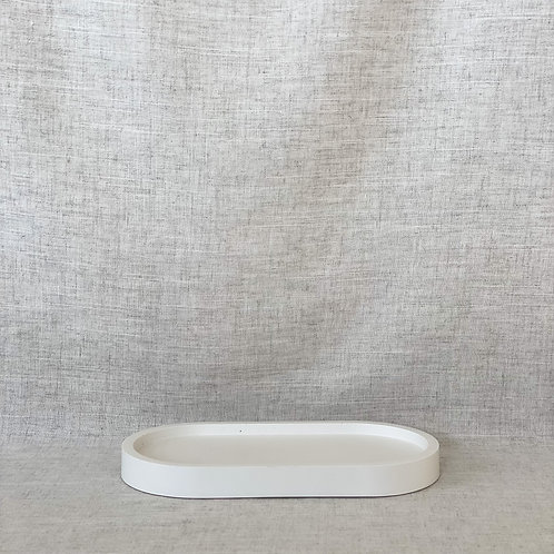 Oval Tray in White