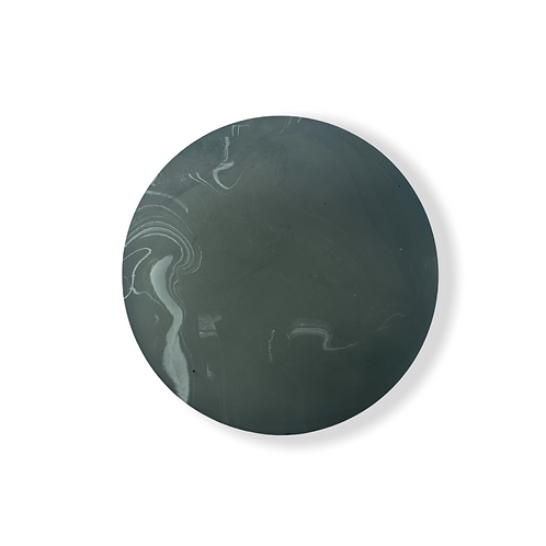 Midi Circle in Black Marble