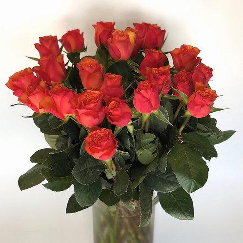 Rožės - 60cm (ryškiai oranžinės)