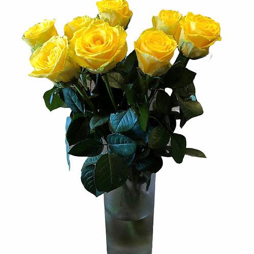 Rožės - 60cm (geltonos)
