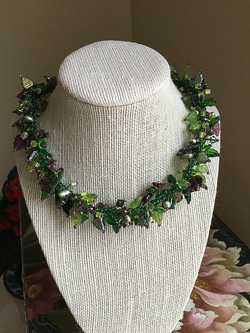 necklace, leaf