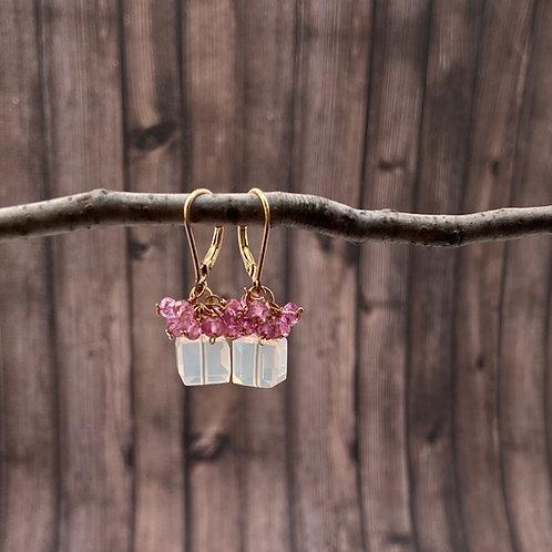 earring, cube, neutrals