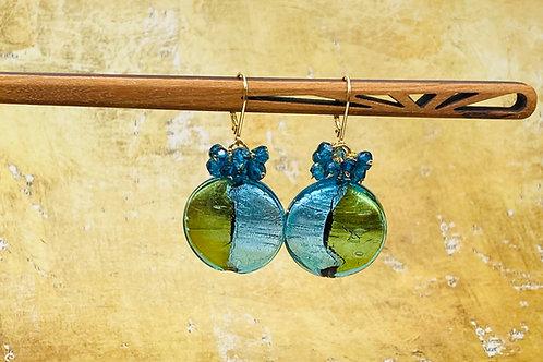 earring, gold foil
