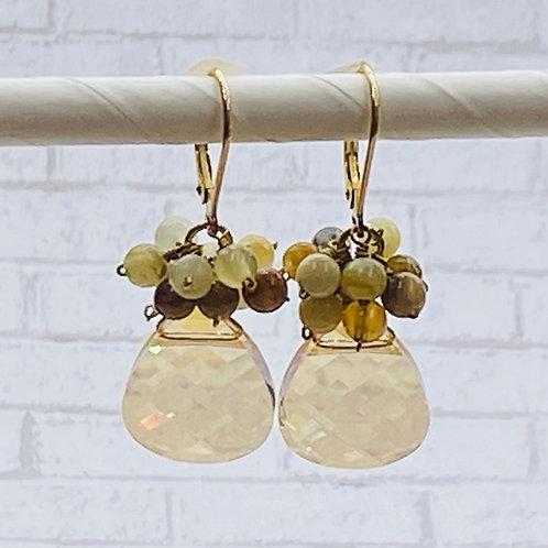 earring, briolette