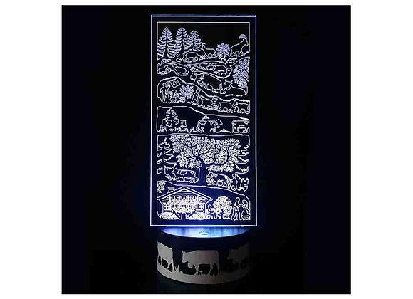 """Lampe LED """"Là haut sur la montagne"""""""