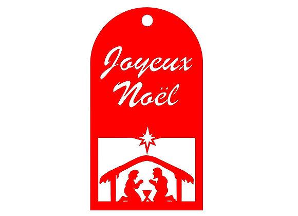 Pendentif Crèche de Noël