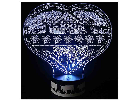 "Lampe LED Coeur ""Edelweiss"""