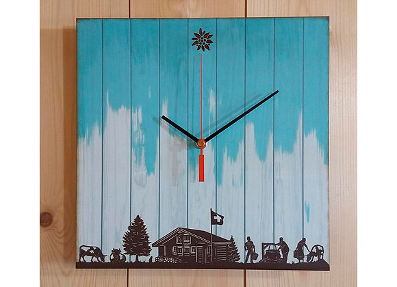 "Horloge ""La fabrication du fromage"""
