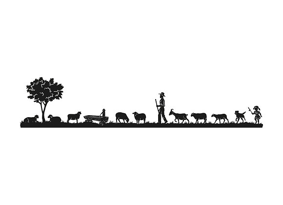 Poya ''Berger et moutons''