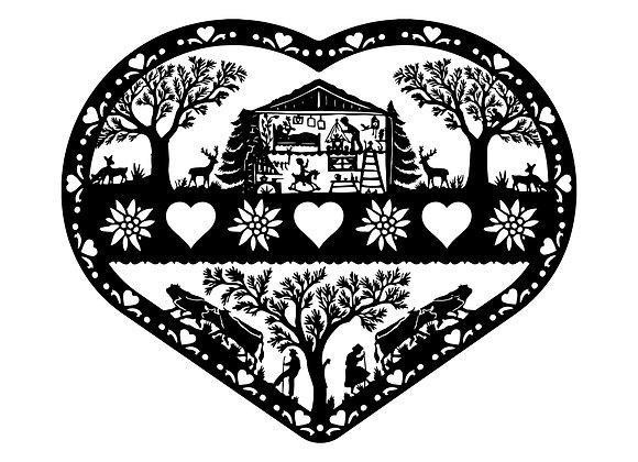 """Coeur Poya """"Famille"""""""