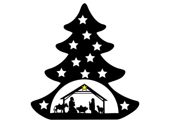 Crèche sapin de Noël