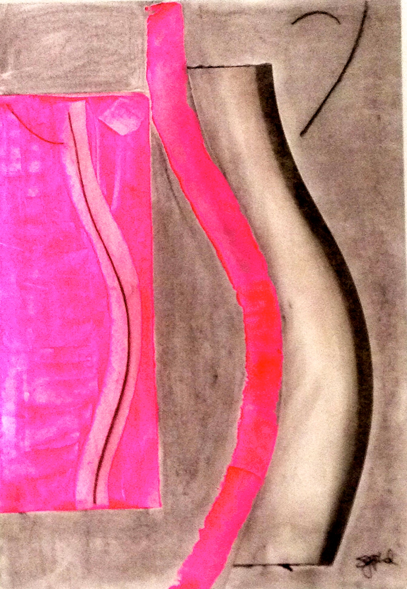 layers of self in pink relief