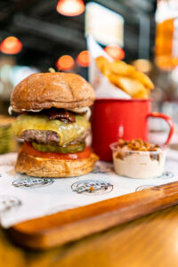 gourmet burgers at the butchers club credit the impossible burger with truffle fries mr ping cha siu papers times