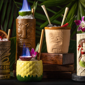 Head to Maka Tiki Lounge at The Upper House For Island Vibes & Fruity Cocktails