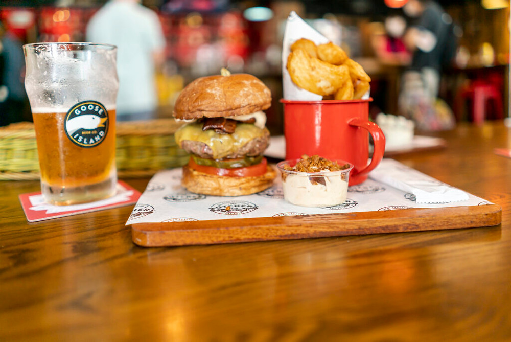 gourmet burgers at the butchers club credit the classic burger with duck fat fries mr ping cha siu papers times