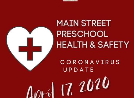 Parent Update - April 17, 2020