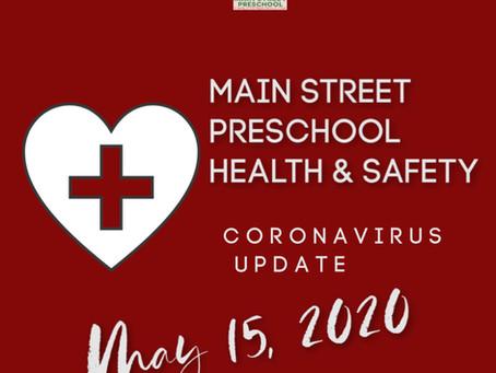 Parent Update - May 15, 2020