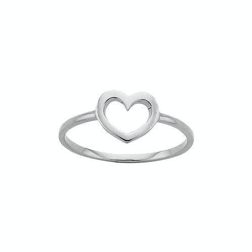 Karen Walker Mini Heart Ring Silver kw159r01