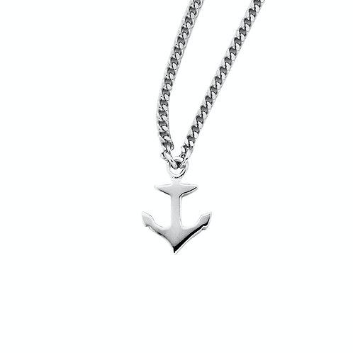 Karen Walker Mini Anchor Necklace Silver kw148pnstg Close Up of pendent