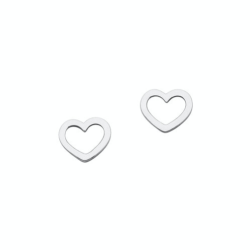 Karen Walker Mini Heart Studs Silver - kw159erstg