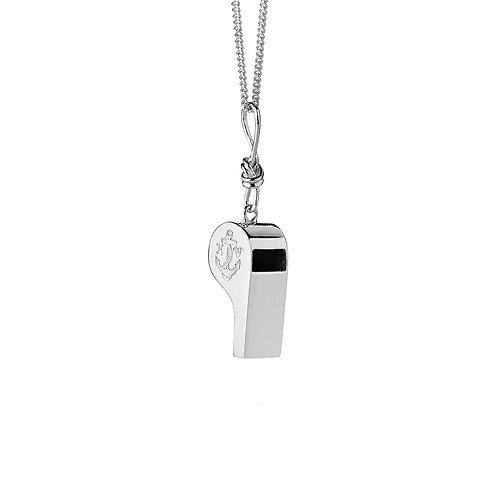 Karen Walker Navigators Whistle Necklace Silver Front  kw373pnstg