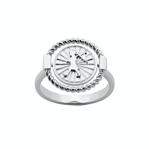 Karen Walker Voyager Spin Ring Silver Front kw370rstg
