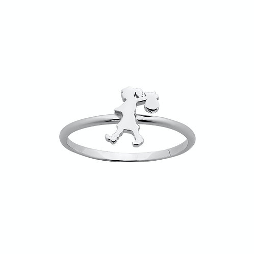 Karen Walker Mini Runaway Girl Ring Silver - kw354rstg