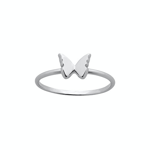 Karen Walker Mini Butterfly Ring Silver kw366rstg