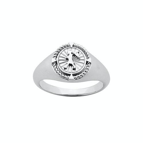 Karen Walker Voyager Signet Ring Silver kw369rstg