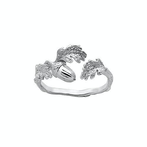Karen Walker Acorn and Leaf Ring Silver - kw341stg