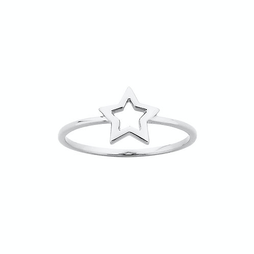 Karen Walker Mini Star Ring Silver - kw155r