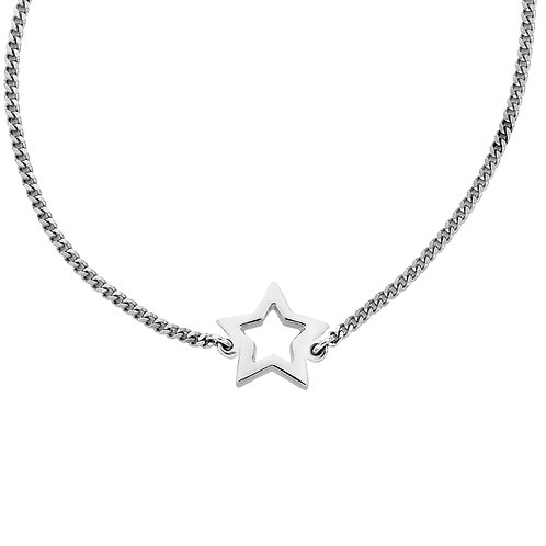 Karen Walker Mini Star Necklace Silver - kw155pnstg