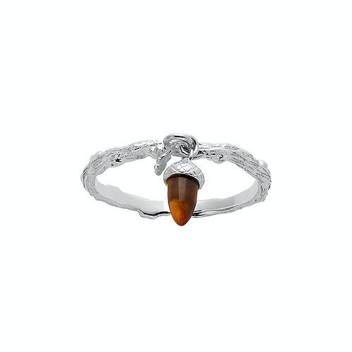 Karen Walker Micro Acorn Charm Ring Silver - kw362stgtig