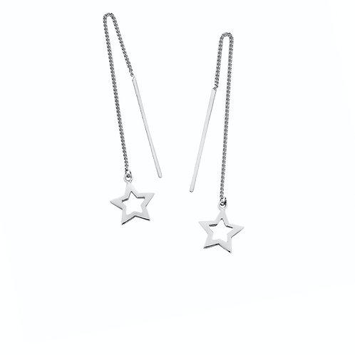 Karen Walker Star Thread Earrings Silver - kw169erstg
