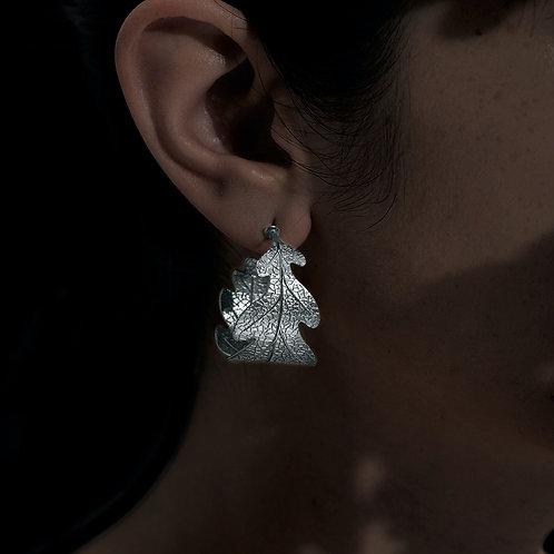Karen Walker Oak Leaf Earrings Silver - kw342stg
